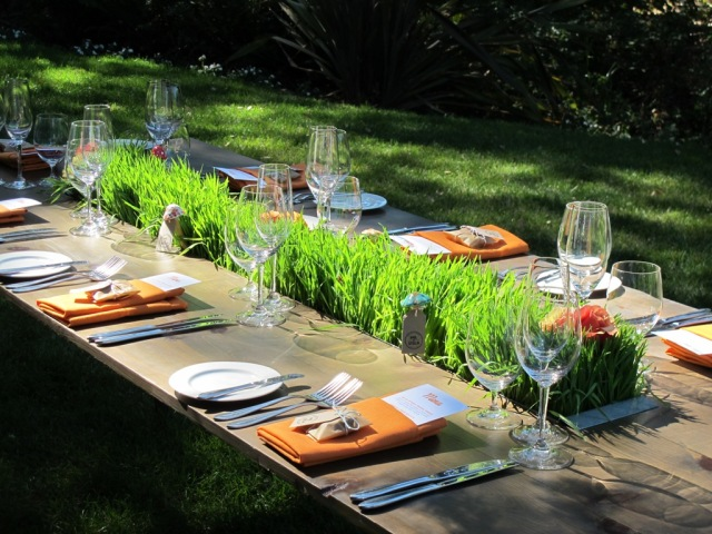 Kate's Blossoms, Quarryhill, Mendocino Trough Table + Wheat Grass + Western Sunlight