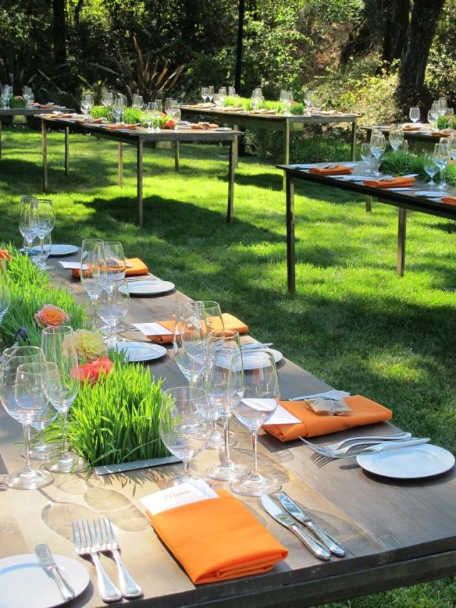 Kate's Blossoms, Quarryhill, Trough Tables