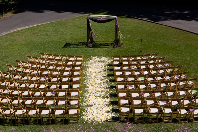 Heart Shaped Wedding Lawn